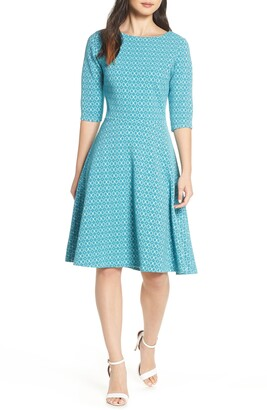 e5be372798d Leota Circle Knit Fit   Flare Dress