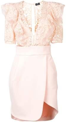 Elisabetta Franchi lace-detail mini dress
