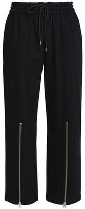 McQ Cropped Zip-Detailed Stretch-Jersey Straight-Leg Pants