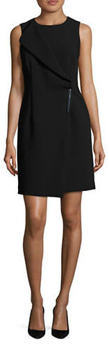 DKNY Dkny Foldover Panel Mock Wrap Sheath Dress