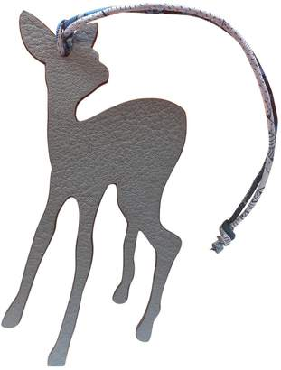 Hermes Petit H Grey Leather Bag charms