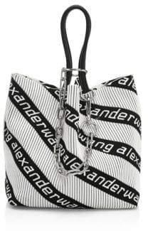 Alexander Wang Women's Roxy Knit Jacquard Tote - Black White