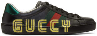 Gucci Black New Ace Guccy Sneaker