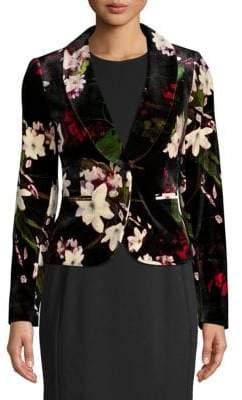 Calvin Klein Floral Velvet Blazer