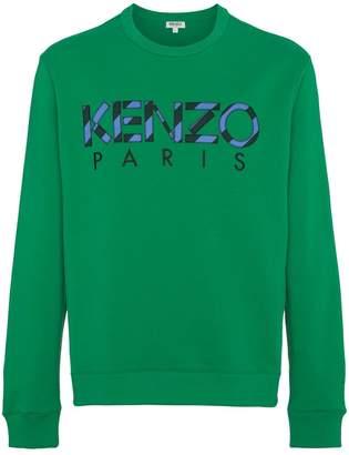 Kenzo green logo sweater