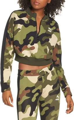 Puma Wild Pack T7 Cropped Quarter Zip Pullover