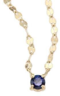 Lana Girl Blue Sapphire Pendant Necklace