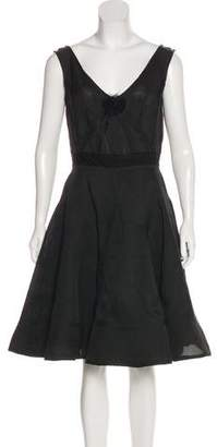 Lanvin Rosette-Accented Silk Dress