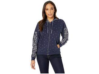 Lucky Brand Floral Hooded Sweatshirt