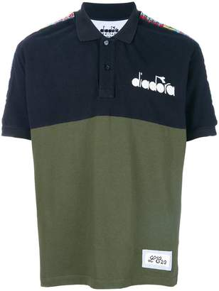 Diadora colour-block polo top