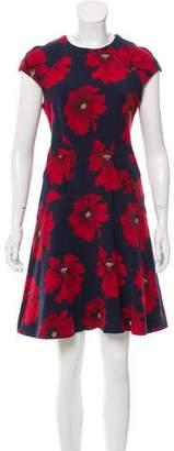 Lela Rose Jacquard A-Line Dress