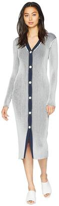 Juicy Couture Striped Sweater Knit Dress Women's Dress
