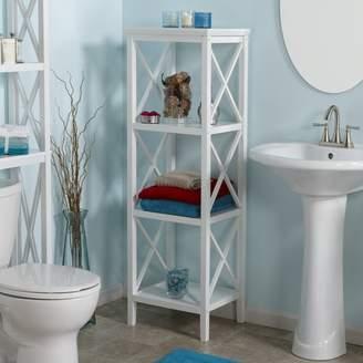 "Beachcrest Home Nellis X-Frame 18.11"" W x 53.86"" H Bathroom Shelf"