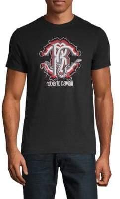 Roberto Cavalli Snake Monogram Graphic T-Shirt