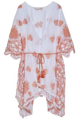 Miguelina Gaby Belted Crocheted Cotton Coverup