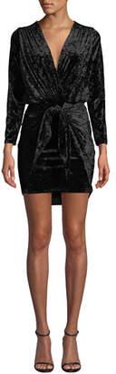 MISA Los Angeles Ophelie Velvet 3/4-Sleeve Cocktail Dress