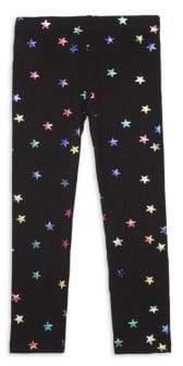 Design History Little Girl's Foil Star Print Leggings