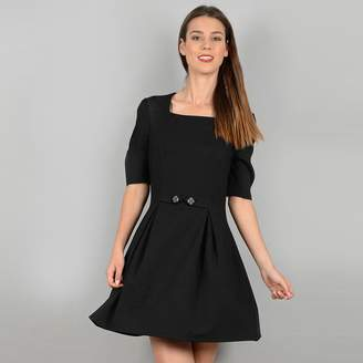 Molly Bracken Skater Dress with Puff Sleeves