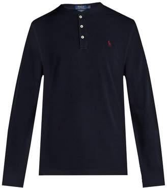 Polo Ralph Lauren Long Sleeved Cotton Henley T Shirt - Mens - Navy