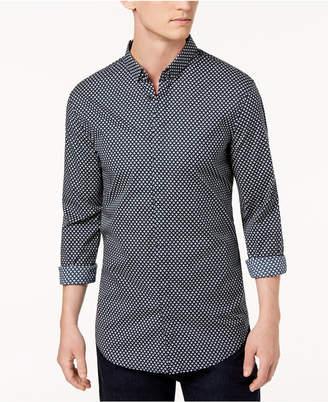 Armani Exchange Men's All Over Ditsy Slim-Fit Mini-Logo Print Shirt