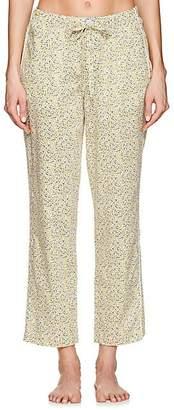 Sleepy Jones Women's Marina Lemon-Print Cotton Pajama Pants - Yellow