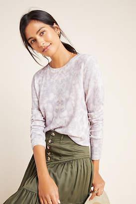 White + Warren Snake-Printed Cashmere Sweater