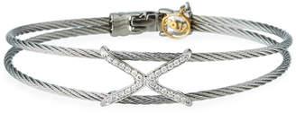 Alor 2-Row Diamond Crisscross Bangle