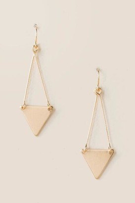 francesca's Merritt Triangle Drop Earrings - Gold