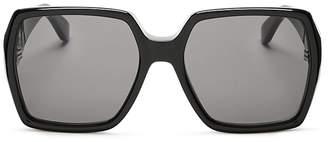 Saint Laurent Oversized Square Sunglasses, 58mm $420 thestylecure.com