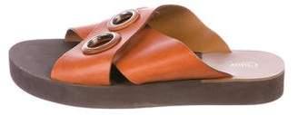 Chloé Crossover Slide Sandals