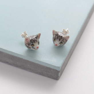 And Mary Tabby Cat Earrings