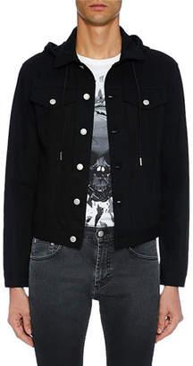 Alexander McQueen Men's Denim Button-Up Hoodie