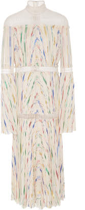 J. Mendel Long Sleeve Pleated dress
