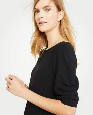 Ann Taylor Petite Ruched Short Sleeve Top