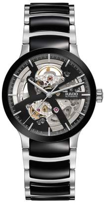 Rado Centrix Automatic Open Heart Ceramic Bracelet Watch, 38mm