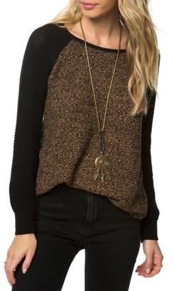 Women's O'Neill Ruth Raglan Sweater $54 thestylecure.com