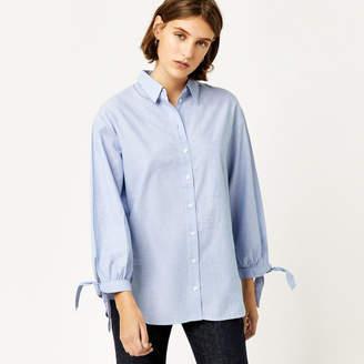 Warehouse Chambray Tie Cuff Shirt