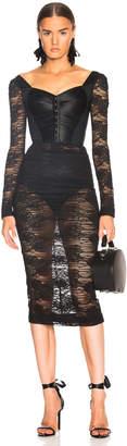 Dolce & Gabbana Lace Corset Midi Dress