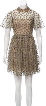 Valentino Valetta Star Embroidered Dress