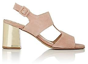 Barneys New York Women's Block-Heel Suede Slingback Sandals - Rose
