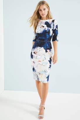 Outlet Little Mistress Floral Blur Bodycon Dress