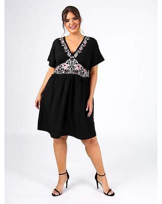 Plus Size Smocked Dress Shopstyle Uk