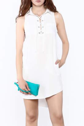 Velvet Heart White Sleeveless Dress