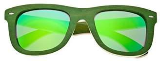 Earth Wood Malibu Sunglasses W/Polarized Lenses - Green