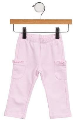 Il Gufo Girls' Knit Ruffle-Trimmed Pants