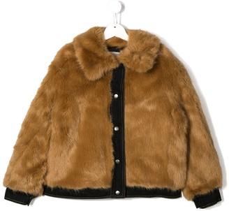 Stella McCartney faux fur bomber jacket
