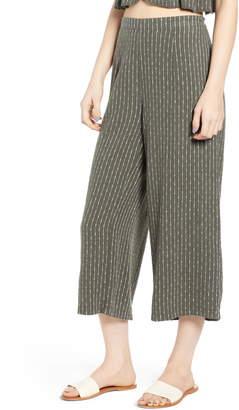 UNIONBAY Sophia Wide Leg Crop Linen Blend Pants