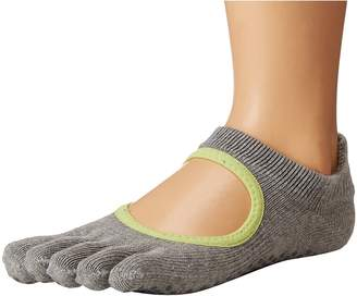 toesox Grip Full Toe Bellarina Women's Low Cut Socks Shoes