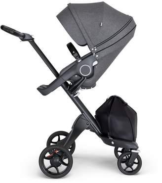 Stokke Xplory V6 Stroller - with Black Chassis & Black Leather