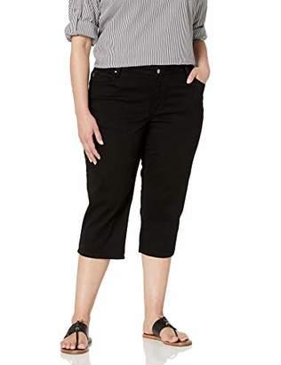 Lee Women's Plus Size Relaxed-Fit Denim Capri Pant